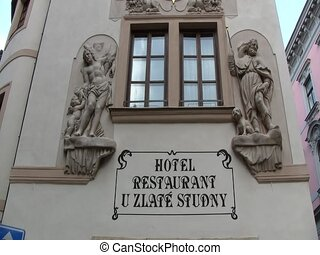 Entrance to a building in Prague, Czech Republic
