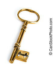 gold key - a golden key on a white background