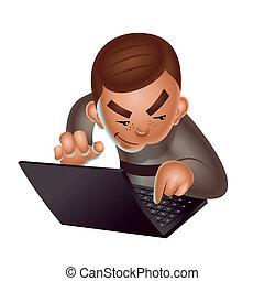 Hacker character