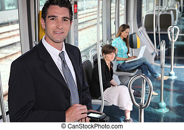 ticket collector in tramway