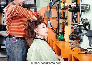 Had massage in hair salon