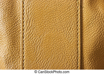 Brown leather with seams for background usage