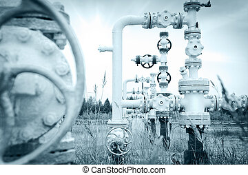 Oilfield - Oil, gas industry Group wellheads and valve...