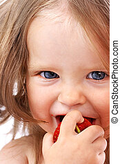 Child with food Healthy eating