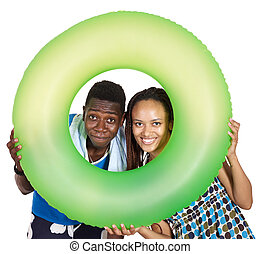 Love couple black people Isolated