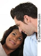 interracial, couple