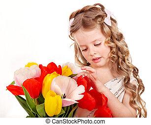 春, 花, 子供