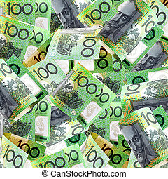 Australian Hundreds - Background of Australian one hundred...