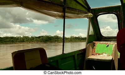 Speed Boat At Amazon River