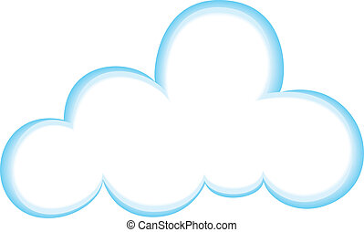 Cloud Icon, Color, Gradient BlueWhite