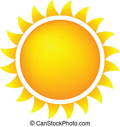 Weather Icon Sun - Sun Icon With Flames, Color, Gradient...