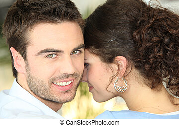 Couple sharing a private moment