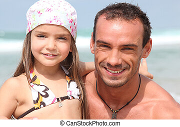 father and little girl