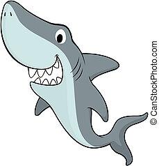 friendly shark - vector illustration of friendly shark...