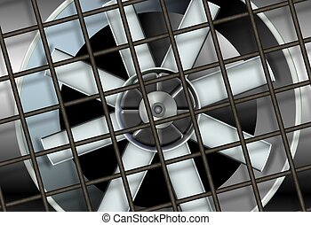 industrial ventilation fan - an illustration of a big...