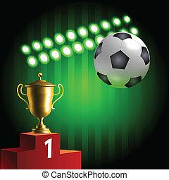 Glowing soccer symbols championship - Soccer set: winner...