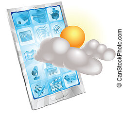 Weather mobile phone application concept