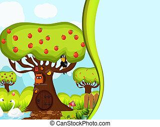 Children background, vector style - background for children...