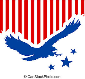 American eagle background - Illustration with stars and...
