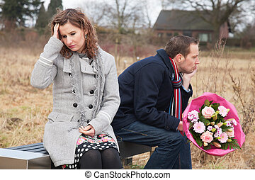 Couple Struggling With Relationship - Couple struggling with...