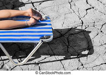 legs in the sun