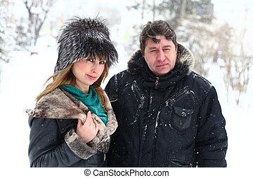 Winter couple