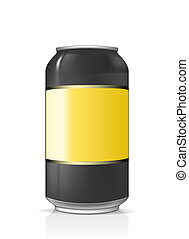 Beer can blank and isolated - Illustration of beer can truth...