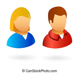 User avatars male and female - Profile avatars or icons for...