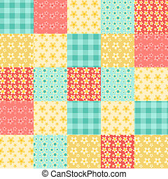 Seamless patchwork pattern 1 - Seamless patchwork pattern...