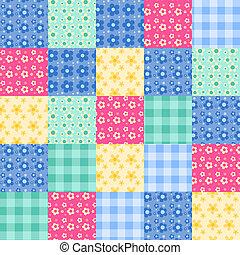 Seamless, patchwork, Padrão, 4