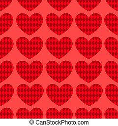 Seamless hearts pattern 1.