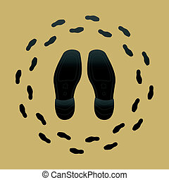Shoe Soles - Vector Illustration of Shoe Soles and Shoe...