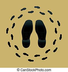 Shoe Soles - Vector Illustration of Shoe Soles and Shoe...