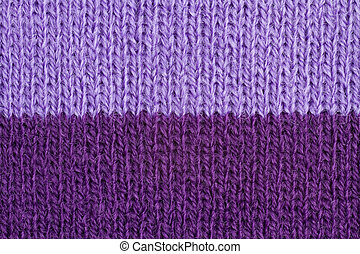 Handmade knitted background - Lilac and violet color wool...