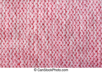 Pink color wool knitted background closeup - Pink color wool...