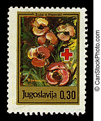 Postage stamp - YUGOSLAVIA-CIRCA 1990:A stamp printed in...