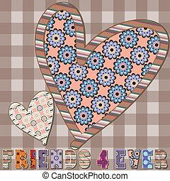 valentijnskaart harten liefde