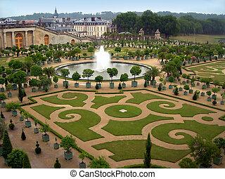 Gardens of Versailles - Gardens and a fountain in Versailles...