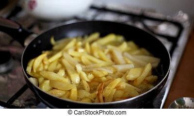 potatoes  - fried potatoes in a pan