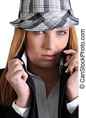 Chic woman in a hat