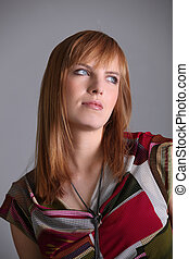 Portrait of ginger-haired woman