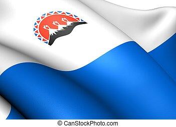 Flag of Kamchatka Krai, Russia.
