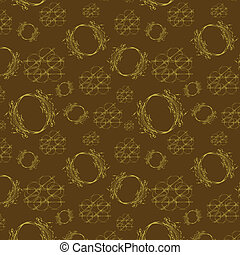 Seamless light pattern on brown bac