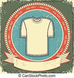 Clothes label set on vintage old paperVector t-shirt...