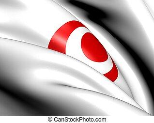 japón, bandera, prefectura,  Okinawa