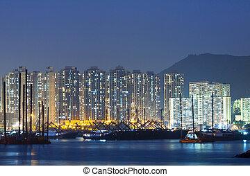 Hong Kong downtown along the coast