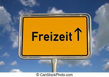 German road sign Leisure