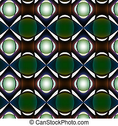 Light through dull relief pattern - Half-light with green,...