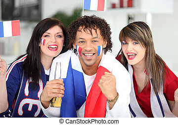 French football supports