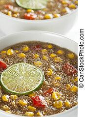 Fresh Amaranth Corn Chowder